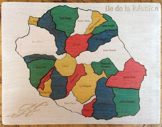 Puzzle Réunion blanc