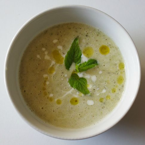 Jamie's Minted Courgette Soup