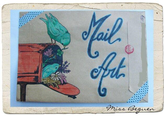 Mail Art Un peu d'hier 1b - Envoyé -
