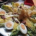 Salade d'artichauts aux oeufs durs et sauce moutardée