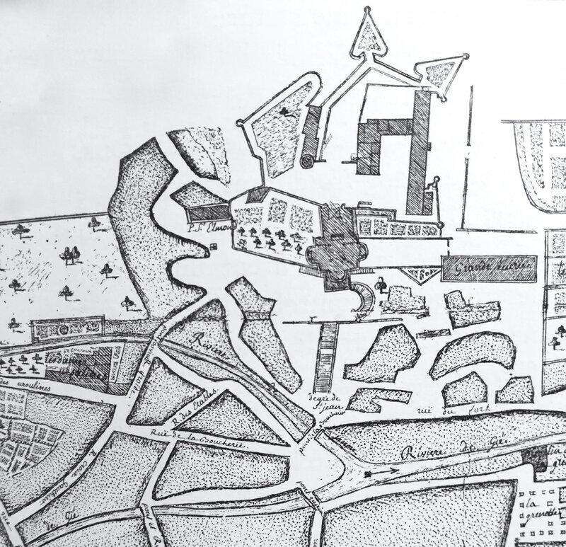 plan 1771 centré sur Saint-Jean