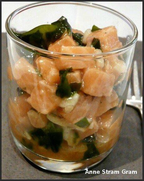Tartare saumon wakame