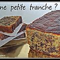 Cake à l'orange et pépites de chocolat...