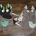 2 enfants ... 2 sacs loup laetibricole ...