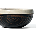 A white-rimmed black-glazed 'Basket weave' bowl, Northern Song-Jin dynasty (960-1234)
