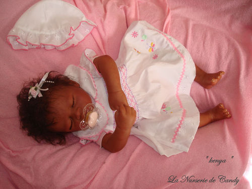 fille africaine bébé reborn