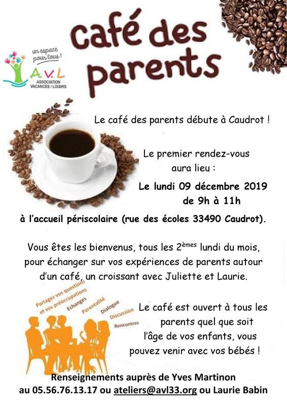 Café des parents à Caudrot AVL