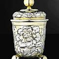 A german parcel-gilt silver covered beaker, hans paulus hauer, nuremburg, circa 1670