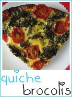 quiche sans pâte brocolis - tomates cerises - index