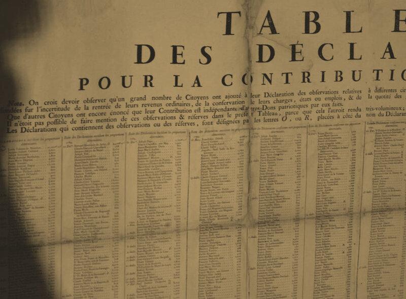 Les 1er et 4 octobre 1790 à Mamers : Contribution patriotique.