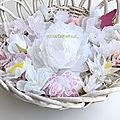 corbeille de fleurs de papier de soie - création ©marimerveille