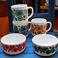 Mugs, plat et pots arcopal # 96