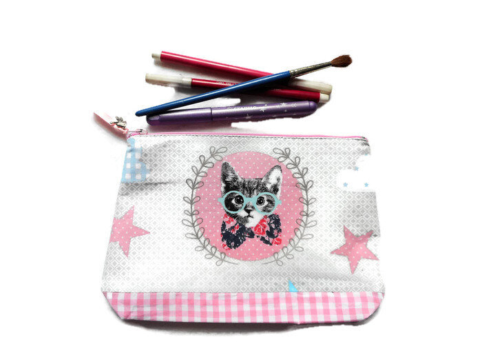 Trousse_chat_oiseau_vichy_rose_face