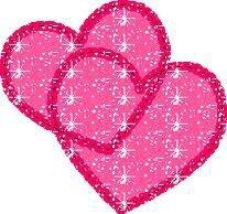 2 coeurs rose