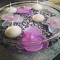 Déco zen centre de table bougies flottantes