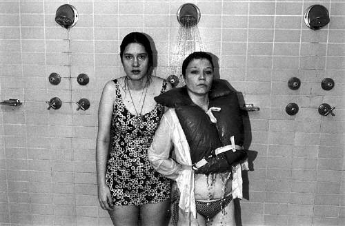 Mona and Beth Taking a Shower 1976