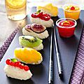 Sushis de fruits