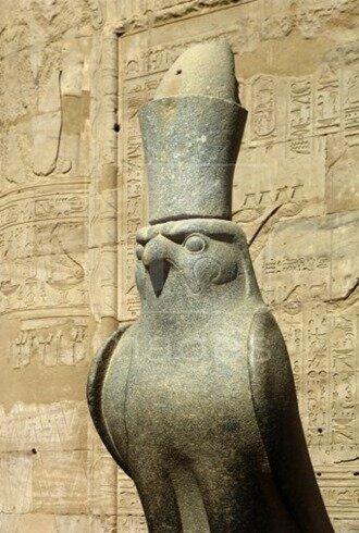 Horus-sculpture-Ptolemic-temple-Edfu
