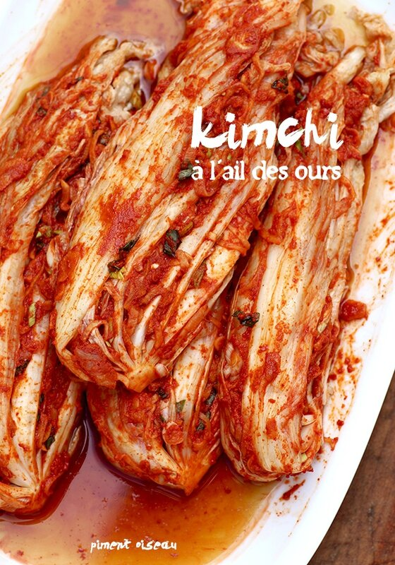 Kimchi à l'ail des ours - Wild Garlic kimchi