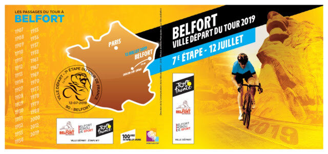 Carnet Souvenir philatélique Tour de France 2019 R