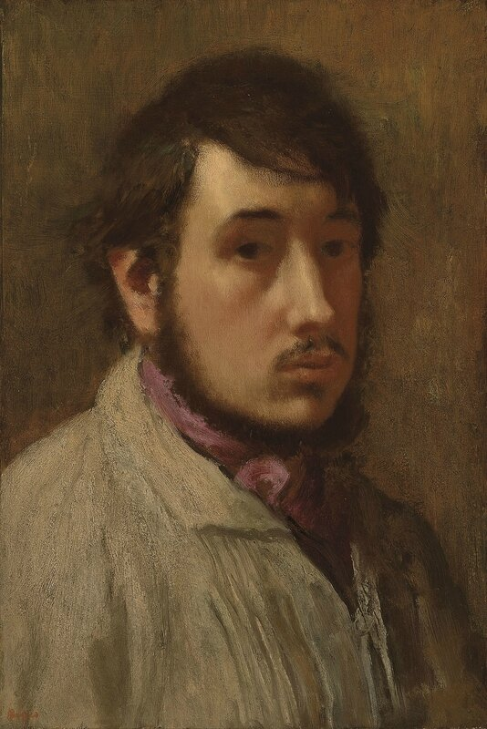 Hilaire-Germain-Edgar Degas, 'Self Portrait', 1857-1858