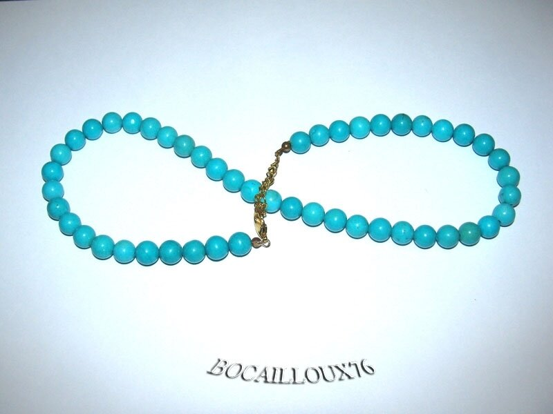 Collier Perles HOWLITE Turquoise 1 (4)