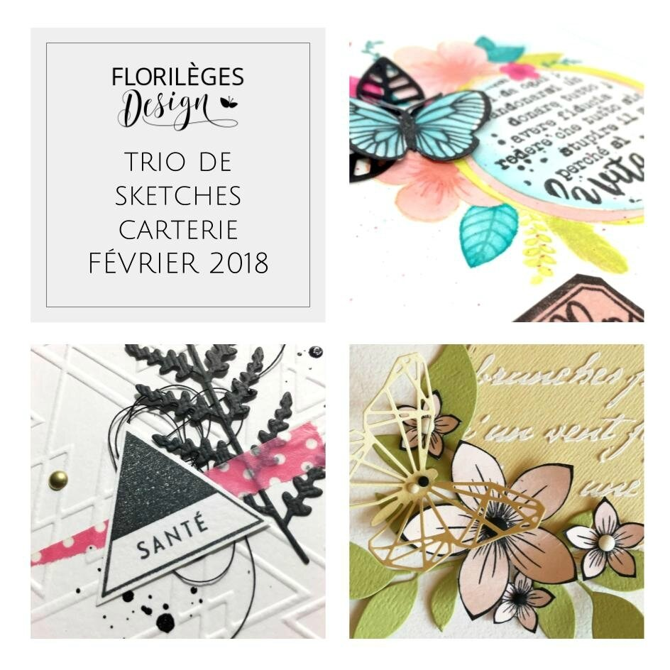Trio de sketches & cartes par Lynda StayFly, Valentina et Is@ de Belley
