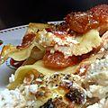 Lasagnes au brocciu et saumon fumé