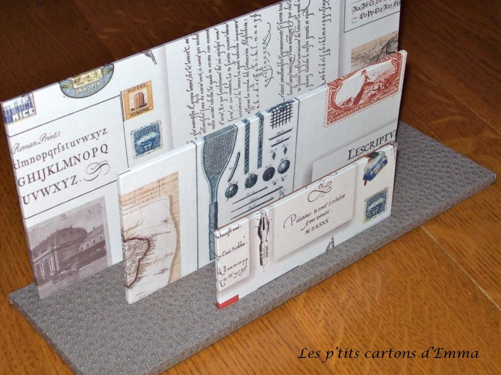Porte courrier thème écriture