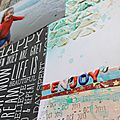Scrapbooking page : enjoy