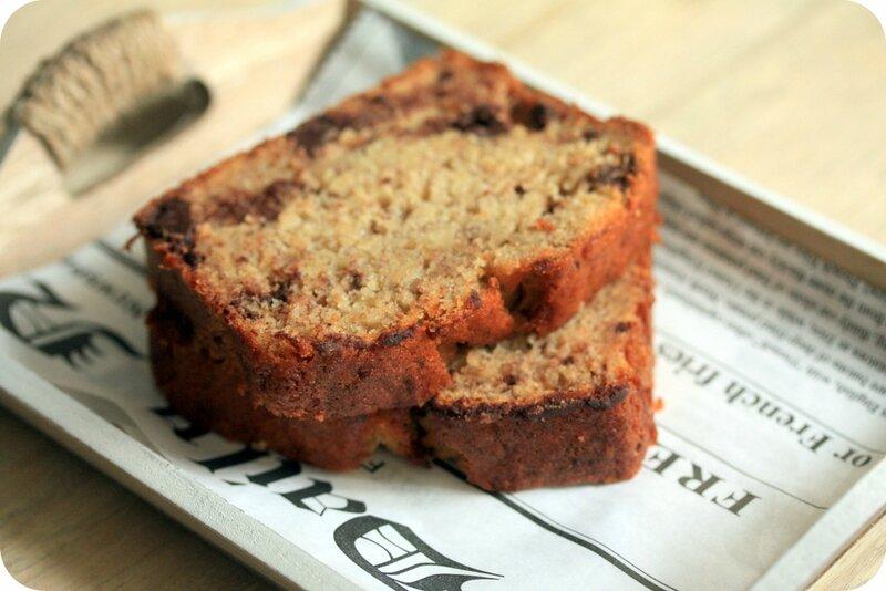 banana bread ou cake banane chocolat blog chez requia cuisine et confidences