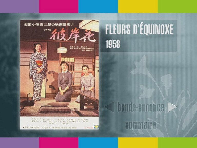 Film Japon Ozu Fleurs D Equinoxe Affiche
