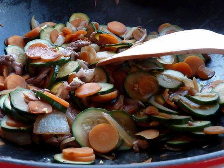 wok de veau aux légumes