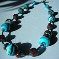 collier choco turquoise