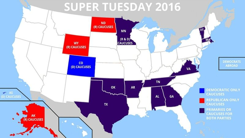 supertuesday 2016 map