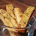 Fingers tomates séchées, basilic et pistaches