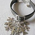 Bracelet pour Tous sur cuir gris