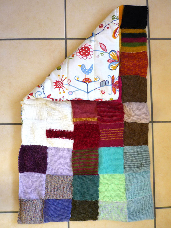 couverture en patchwork de laine / doublure