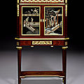 A french late 19th century ormolu-mounted mahogany, satiné and coromandel lacquer bonheur du jour