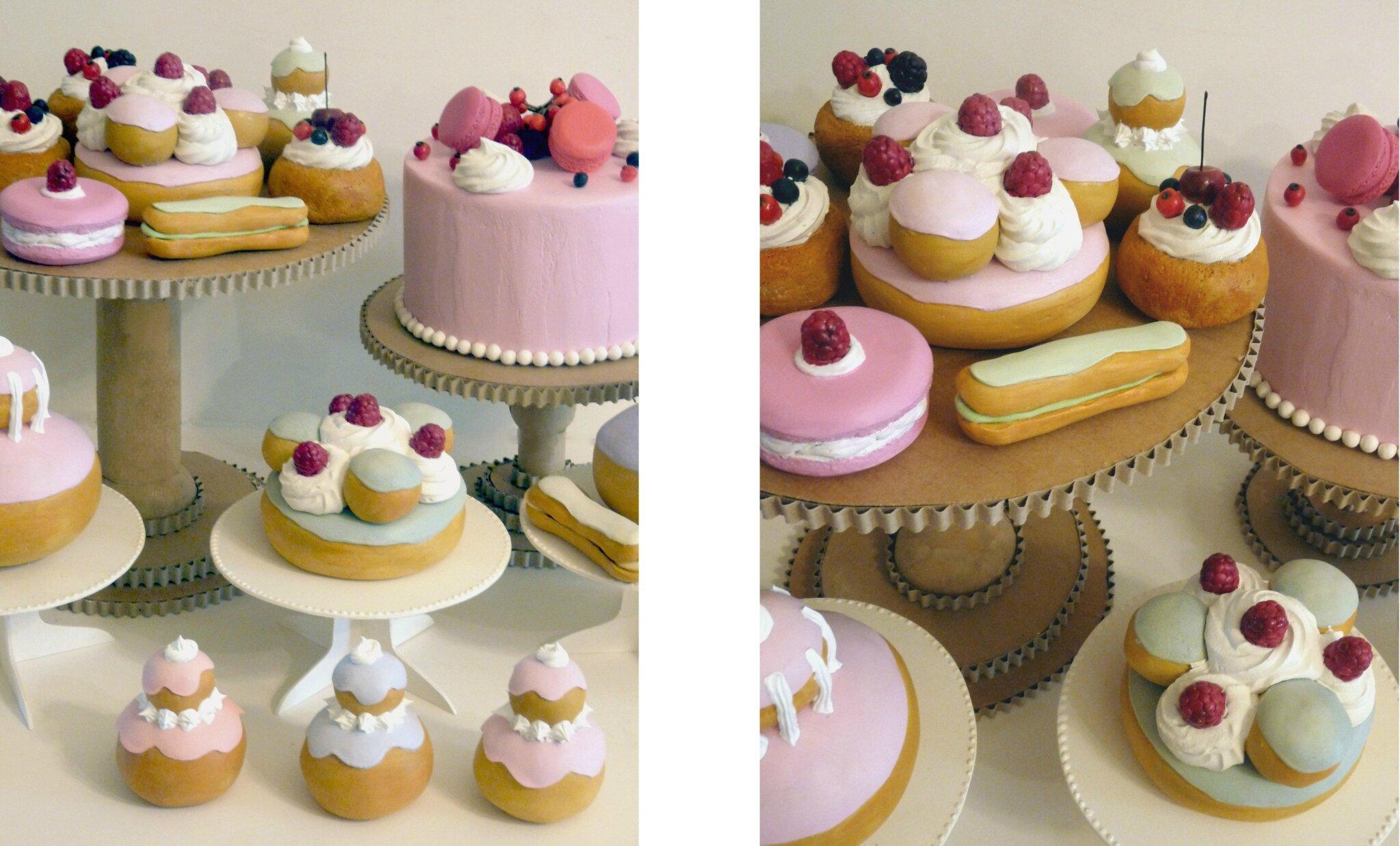 Buffet de pâtisseries, esprit XVIIIe , Marie Antoinette
