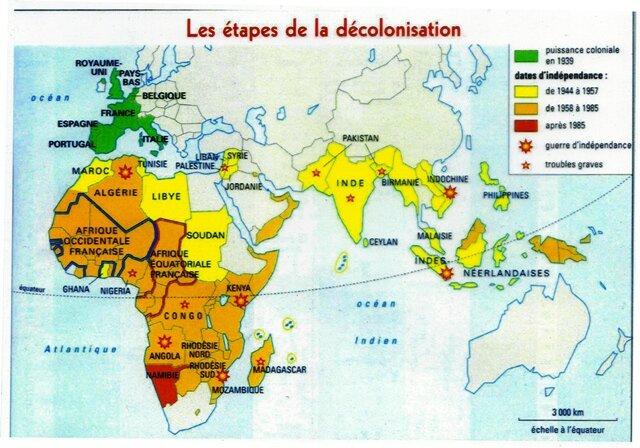 Etapes de la décolonisation