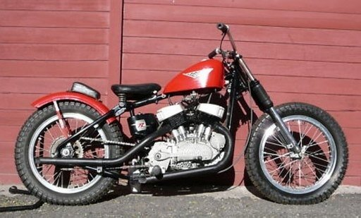 1958 Harley KR côté pots