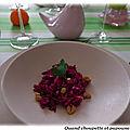 Salade de choux rouge aux noix