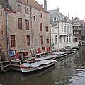 Bruges, point de promenade sur les canaux