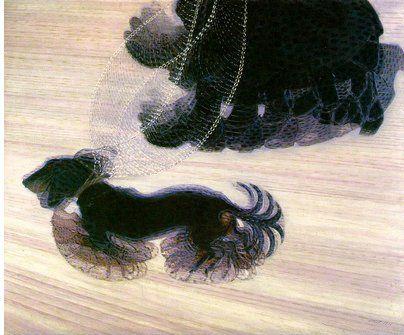 Giacomo Balla, Dynamisme du chien en laisse, 1912