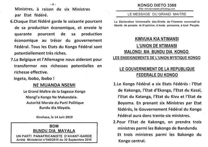 LE GOUVERNEMENT DE LA REPUBLIQUE FEDERALE DU KONGO a