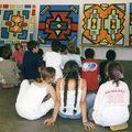 Nathalie LeMignant St Pierre 2007, fresque N'debele