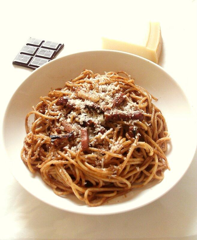 spaghtti alla carbonara au chocolat2