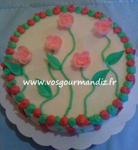 Gâteau Fleurs Vos Gourmandiz