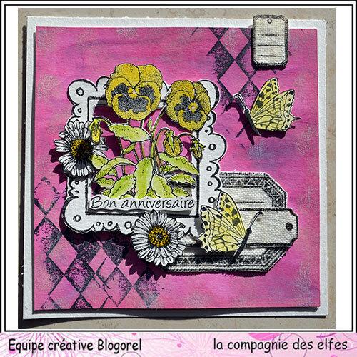 blogorel lcde carte fleurie tissu loreeduscrap